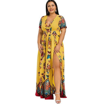 Boho Chic Long Dress Large Size beautiful