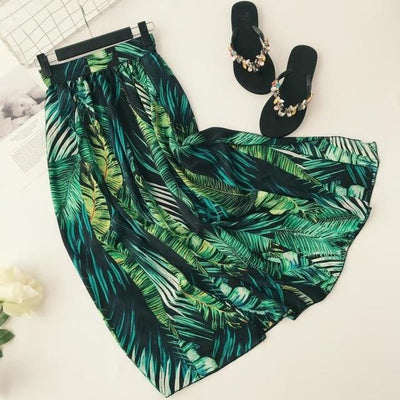 Dark Green Boho Long Skirt cute