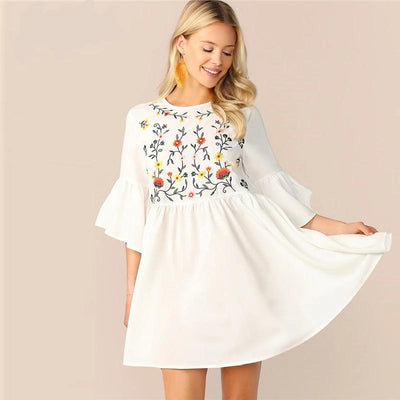 Boho Short Dress hippie