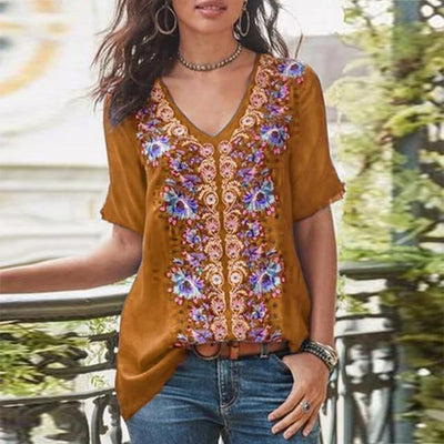 Printed Chic Boho Tunic women