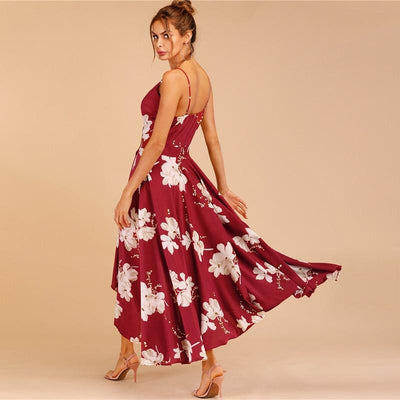 Boho Long Dress With Flowers hippie