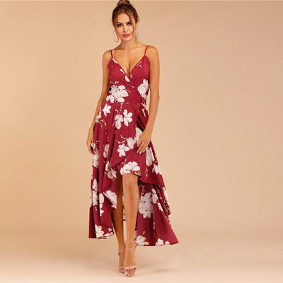 Boho Long Dress With Flowers women
