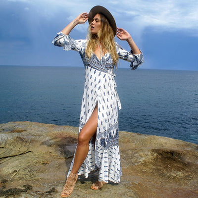 Boho Long Dress Special Beach finely tailored