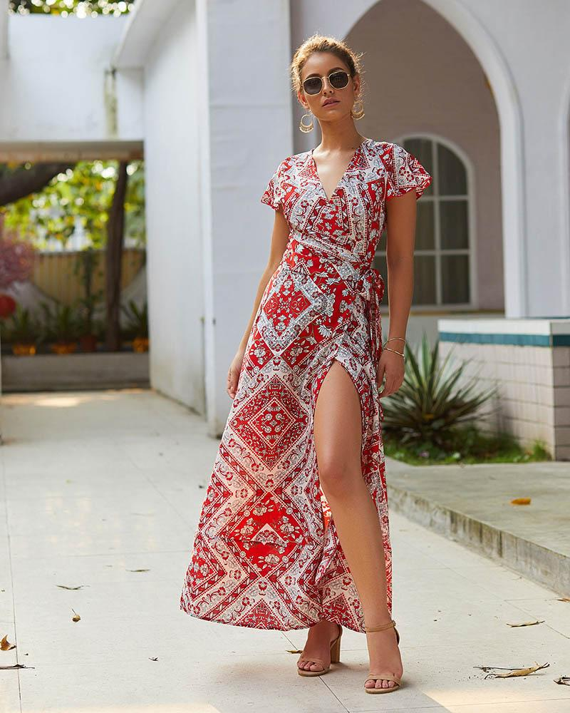 Boho Hippie Chic Summer Maxi Dresses finely tailored