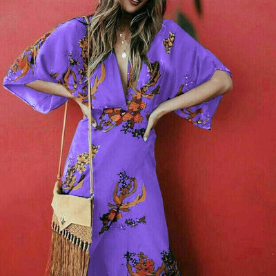 Boho Long Dress Flowing bohemian life
