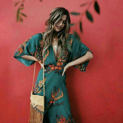Boho Long Dress Flowing cute