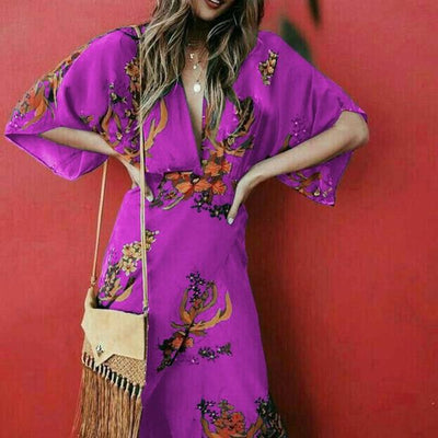 Boho Long Dress Flowing women