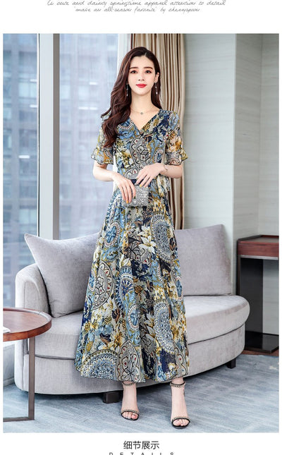 Boho Floral Long Dress chic