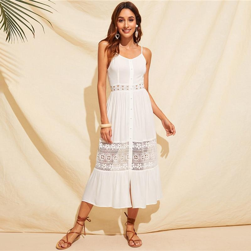 Ivory Long Boho Dress high quality