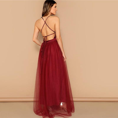 Boho Long Cocktail Dress Chic low price