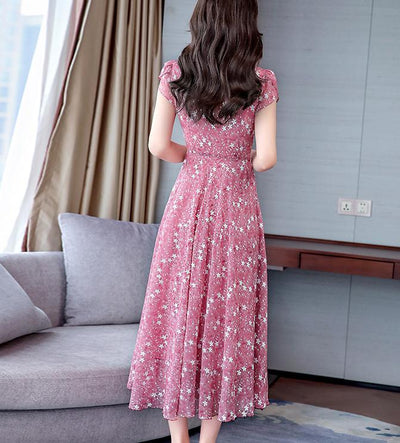 Boho Spring Long Dress high quality