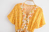 Yellow Long Boho Dress bohemian