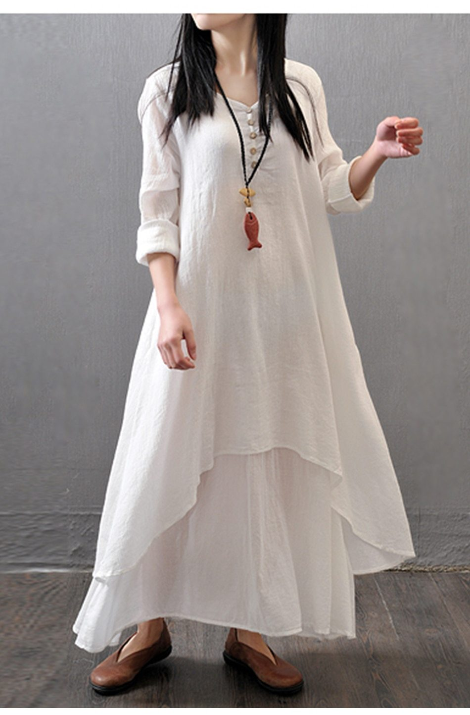Boho White Long Dress 4 review