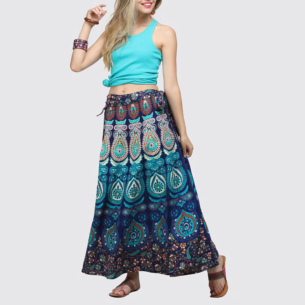 Boho Long Skirt Color low price