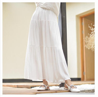 White Boho Long Skirt review