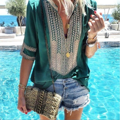 Boho Chic Woman Tunic hippie