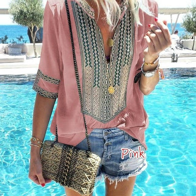 Boho Chic Woman Tunic