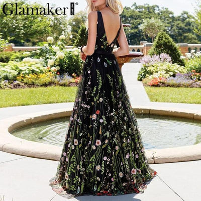 Boho Long Dress Chic Flowers Embroidery high quality