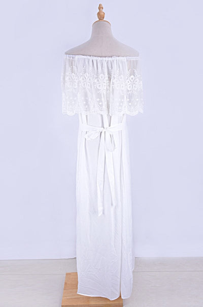 Boho Chic Long White Dress 2019