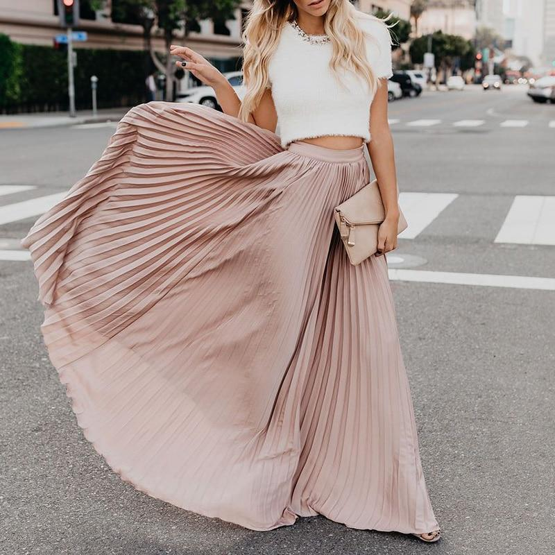 Powder Pink Boho Long Skirt bohemian life