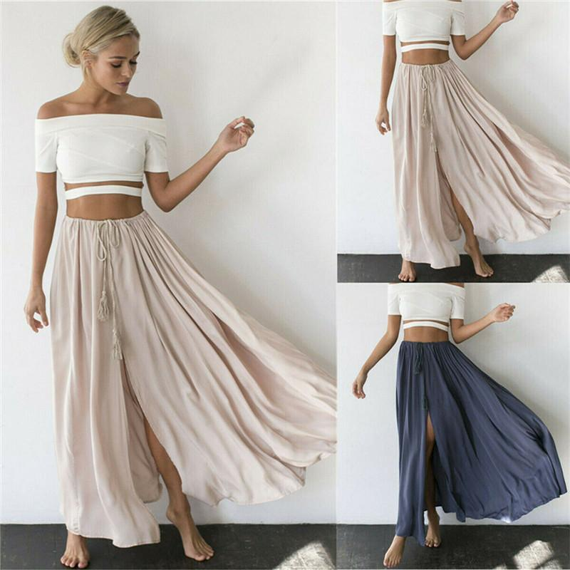 Boho Maxi Long Skirt women