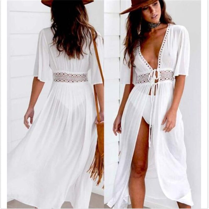White Hippie Chic Summer Long Dress style