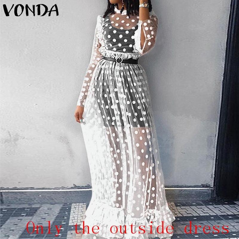 Transparent Boho Long Dress trendy