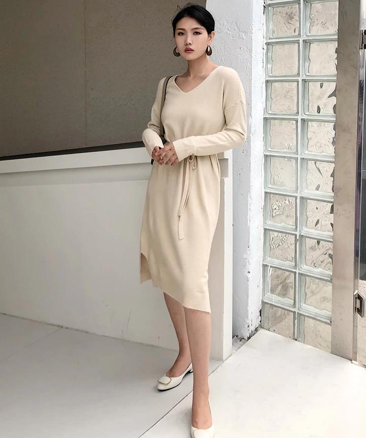 Beige Boho Long Chic Dress low price
