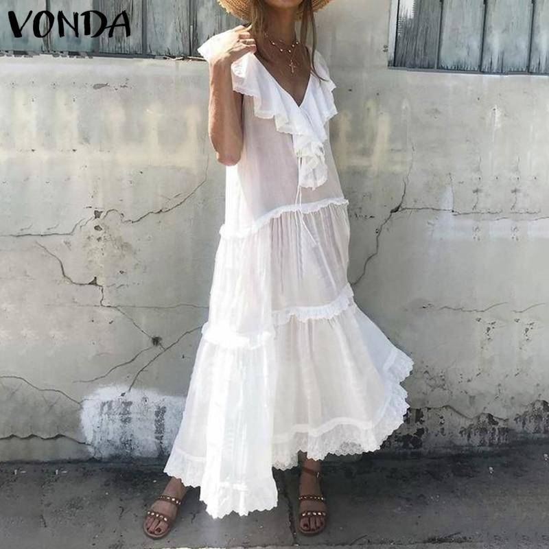 Boho White Long Dress 2020