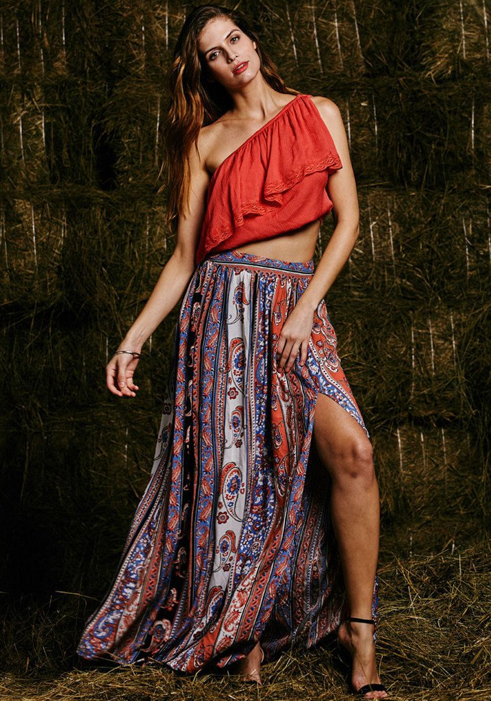 Tribal Boho Long Skirt 2020