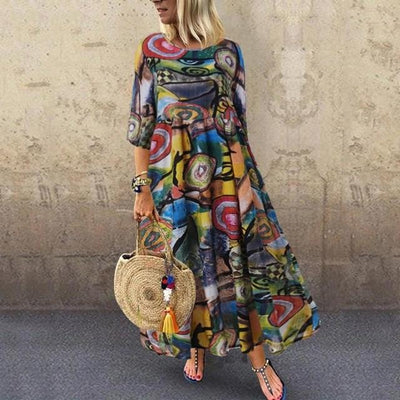 Colored Boho Long Dress style