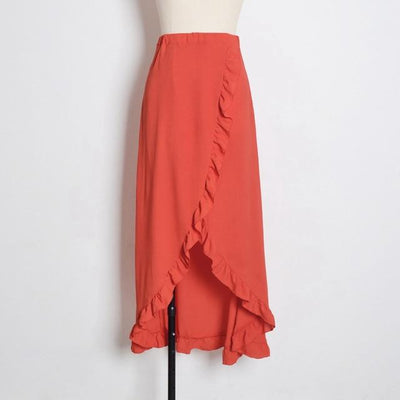 Orange Boho Long Skirt bohemian life