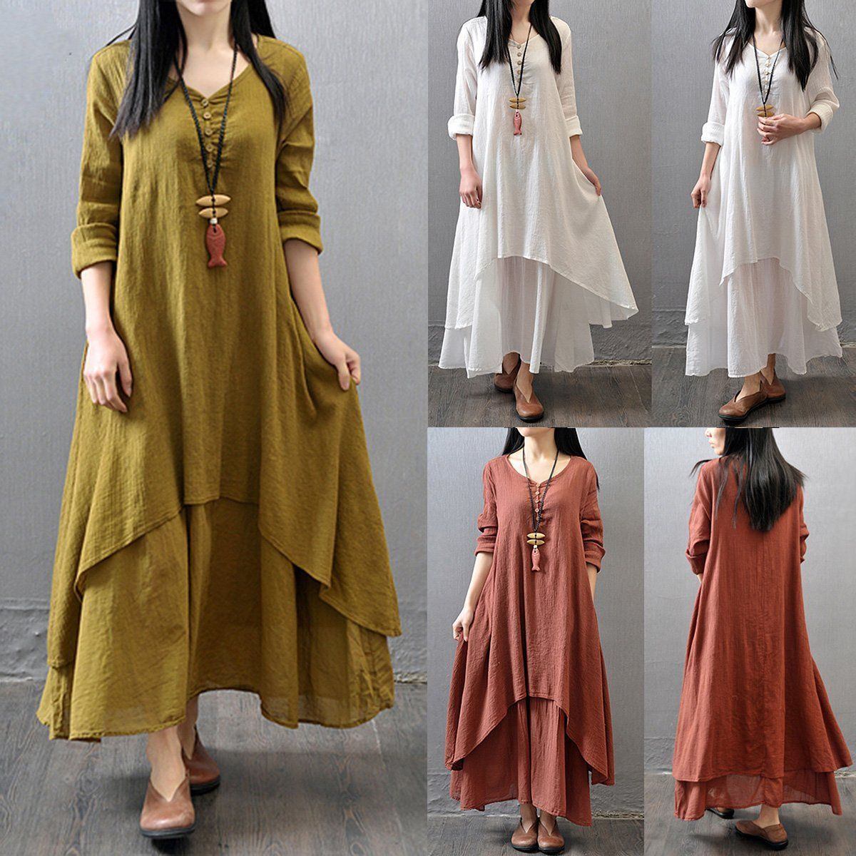 Gypsy Boho Long Dress women