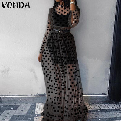 Transparent Boho Long Dress luxury