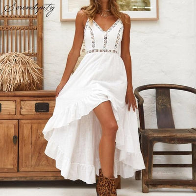 Asymmetrical White Long Dress review
