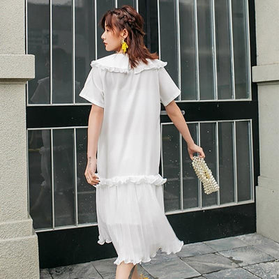 White Flowing Long Boho Dress 1 high quality