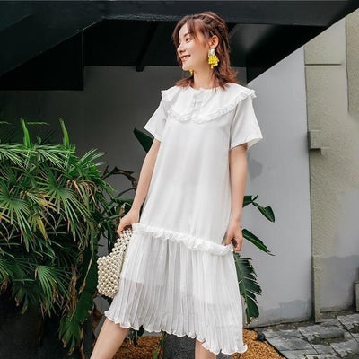 White Flowing Long Boho Dress 1 finely tailored