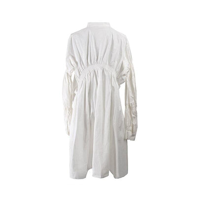 Hippie Chic White Long Dress For Women Ladylike