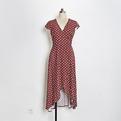 Boho Long Dress With Polka Dots 1 best