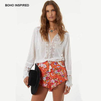 Boho Tunic White Woman women