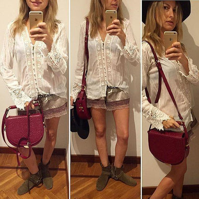 Boho Tunic White Woman boho