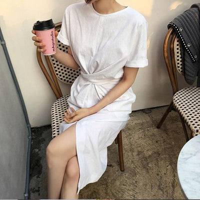White Long Dress Cotton Hippie Boho Cotton 2019