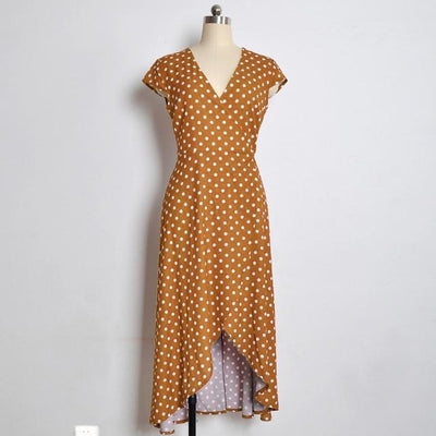 Boho Long Dress With Polka Dots 1 boho chic