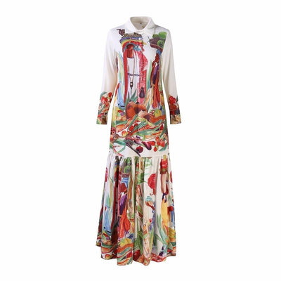 Designer Boho Shirt Dress Long Color boho chic