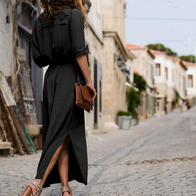 Long Dress Boho Look Shirt chic