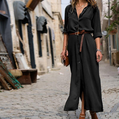 Long Dress Boho Look Shirt beautiful