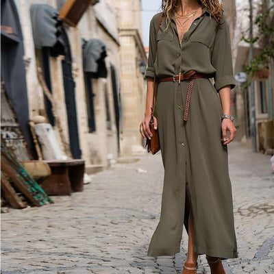 Long Dress Boho Look Shirt cute