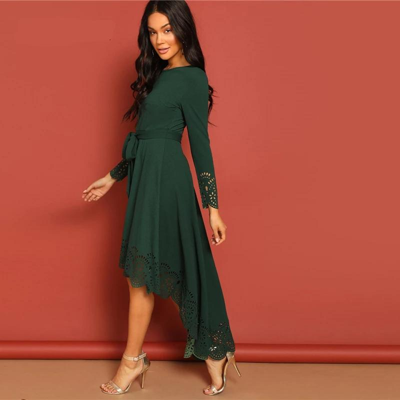 Boho Dress Long Chic Green style