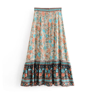 Long Boho Flowery Skirt review