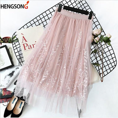 Boho Long Skirt Tulle And Lace finely tailored